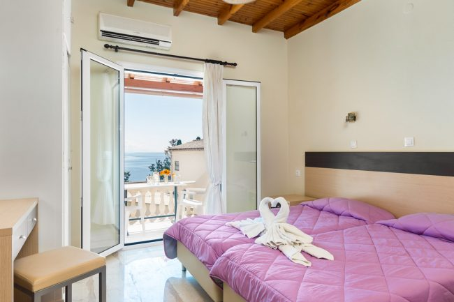 fouxia corfu apartments for rent sea view studio 2